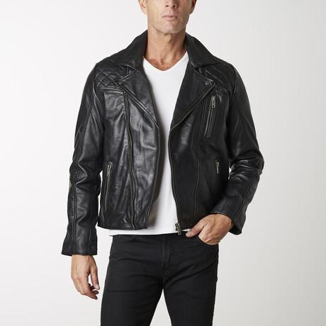 Moto Leather Jacket // Black (XS)