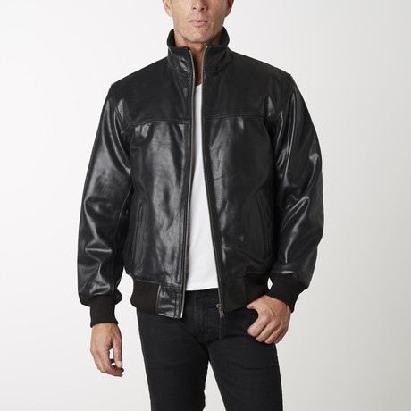 Standup Collar Buffalo Bomber // Black (XS)
