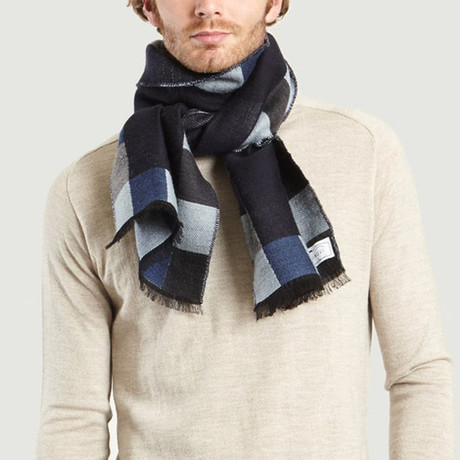 Wool Scarf // Blue + Blue