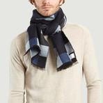 Wool Scarf // Blue + Blue