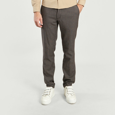 Chino Pant II // Brown Checks (26WX30L)