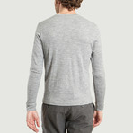 Round Neck Cotton + Wool T-Shirt // Grey Chine (XL)
