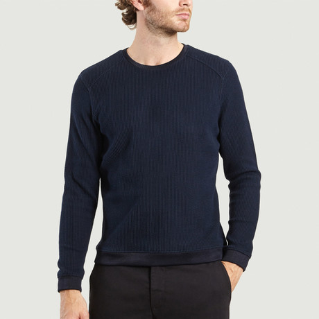 Round Neck Sweater // Navy (XS)