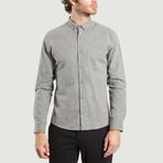 Velvet Shirt // Grey (XS)