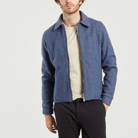 Smart Wool Jacket // Blue (XS)