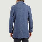 Wool Long Coat // Blue (XS)