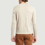 Round Collar Knit Sweater // Beige Chine (XS)