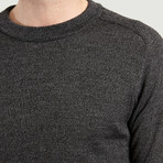Round Collar Knit Sweater // Dark Grey (XS)