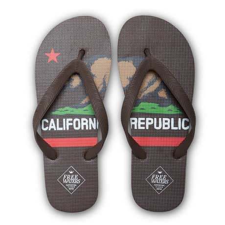 Tommy Print // Brown + California Flag (US: 7)