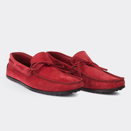 Dante Loafer Moccasin Shoes // Red (Euro: 38)