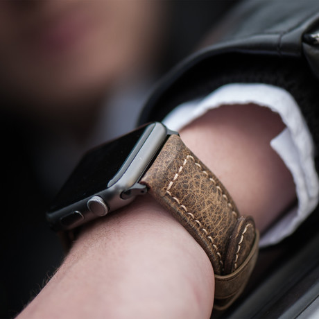Leather Apple Watch Strap // Vintage (Black Hardware)