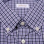 Hamish Plaid Drees Shirt // Purple (US: 45)