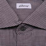 Fergus Geometric Shirt // Maroon (US: 45)