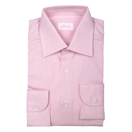 Brioni // Hugh Solid Dress Shirt // Pink (Euro: 39)