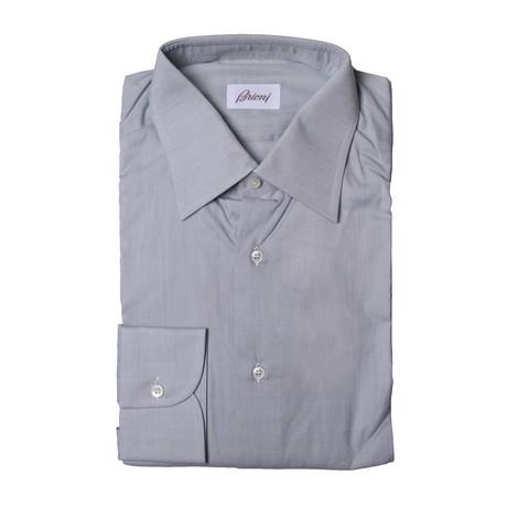 Brioni // Pierce Solid Dress Shirt // Light Gray (Euro: 39)