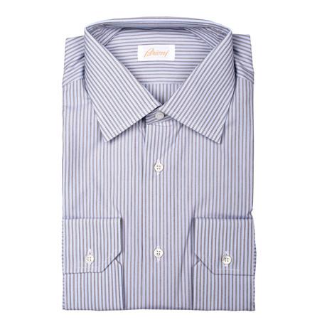 Brioni // Bryon Striped Dress Shirt // Multicolor (Euro: 39)