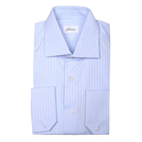 Brioni // Clayton Striped Dress Shirt // Blue (Euro: 37)