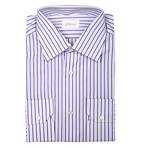 Ralph Dress Shirt // Ivory + Blue Stripe (US: 44)