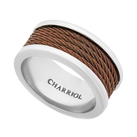 Charriol Forever Stainless Steel + Bronze Cable Ring (Ring Size: 5.5)