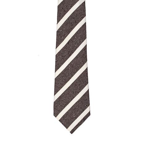 Roda // Striped Tie // Taupe + Off-White