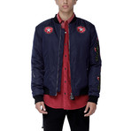 Rosin Bomber Jacket // Navy (XL)