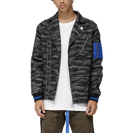 Lyle Camo Moto Jacket // Black Camo (XS)