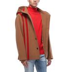 Duke Oversized Wool Blend Hooded Coat // Camel (XS)