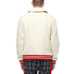 Eli Sherpa Zip-Up Collared Jacket // White (XS)