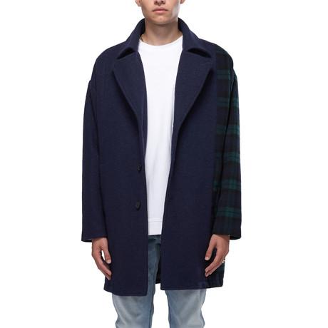 Charlie Oversized Wool Blend Coat // Navy (XS)