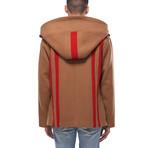 Duke Oversized Wool Blend Hooded Coat // Camel (L)