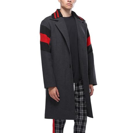 Arlo Wool Blend Coat // Charcoal (XS)