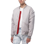 Lionel Zip Bomber Jacket // Grey (XS)