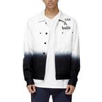 Alder Blue Denim Trucker Jacket // White Ombre (XS)