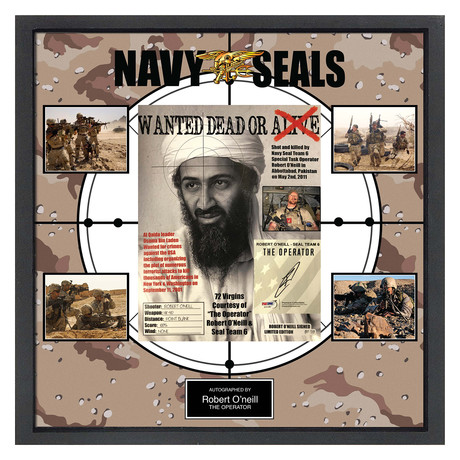Signed + Framed Collage // Navy Seal Robert O'Neill