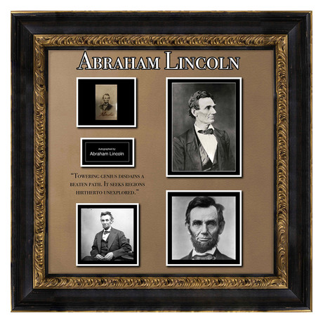Signed + Framed Signature Collage // Abraham Lincoln