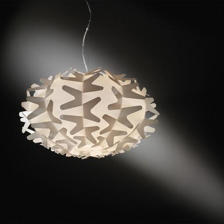 Cactus Suspension Lamp // Gold