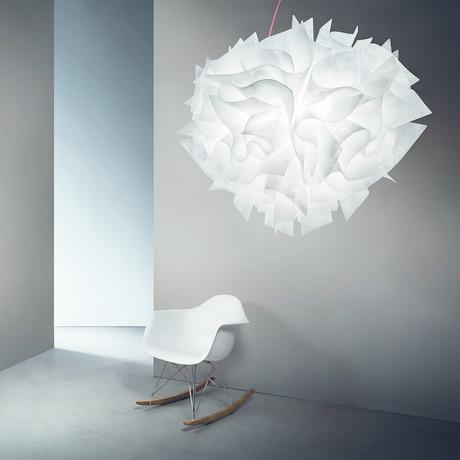 Veli Couture Suspension Lamp // Transparent // Large
