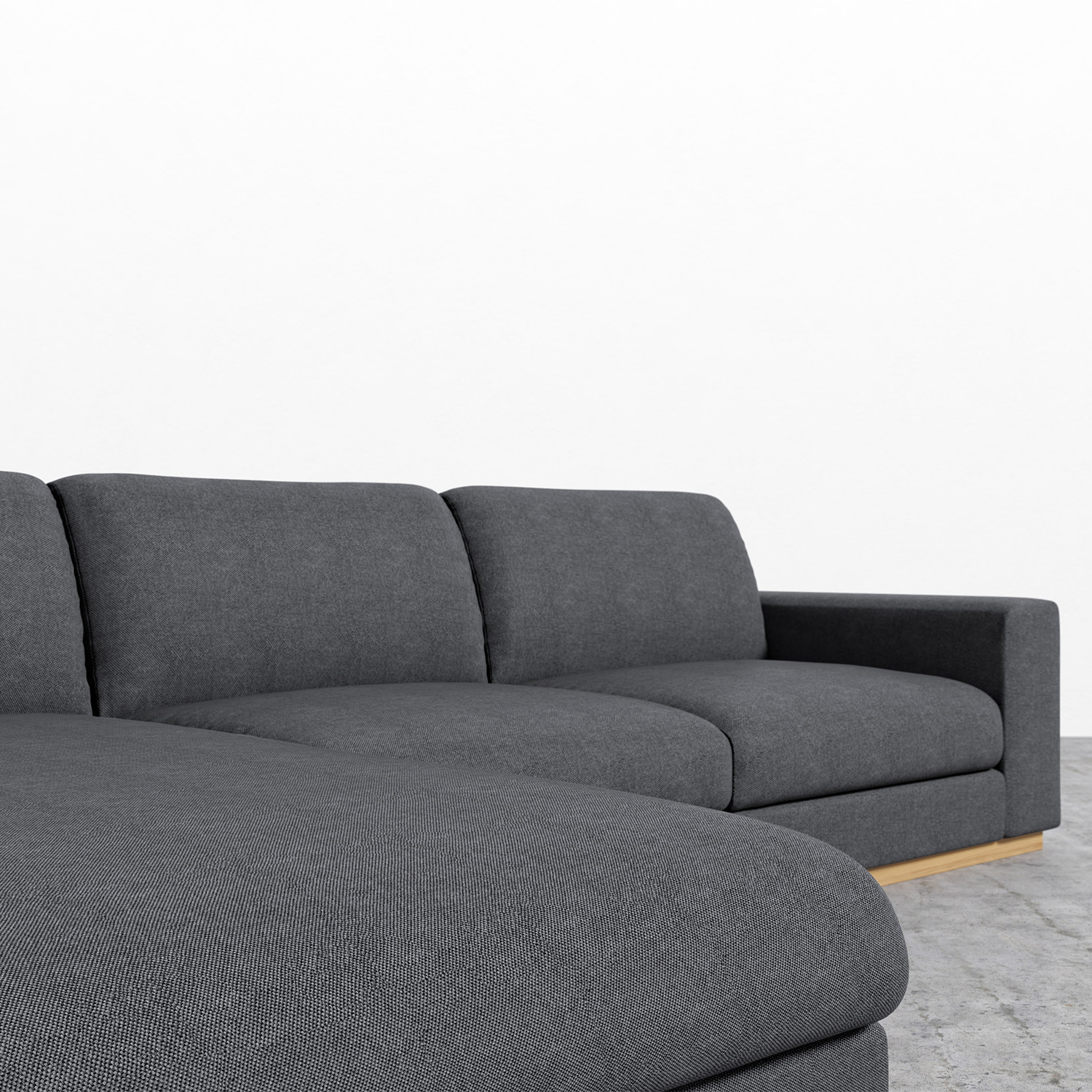 Noah Sectional // Narwhal (Left Hand Facing) - Rove ...
