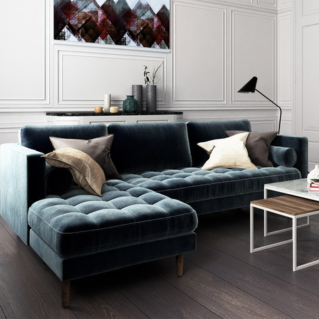 Luca Sectional // Left Hand Facing // Solstice