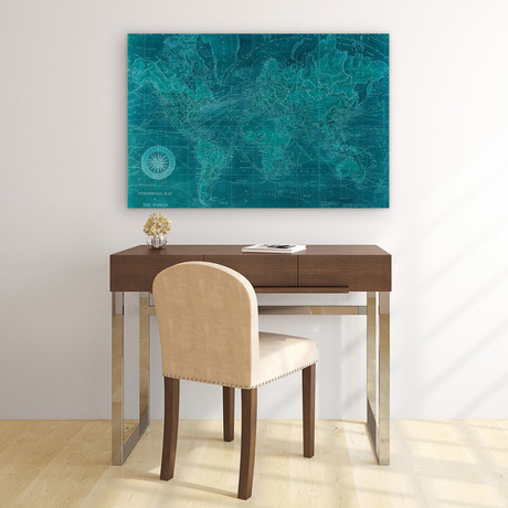 Azure World // Reverse Printed Tempered Art Glass