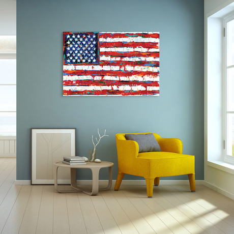 Dramatic Stars & Stripes // Reverse Printed Tempered Art Glass