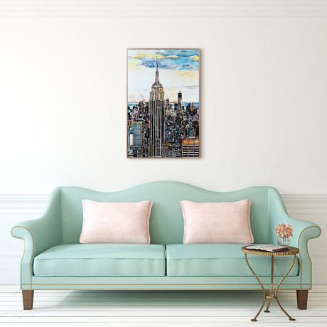 Empire State Building // Anodized Aluminum Rose Gold Frame