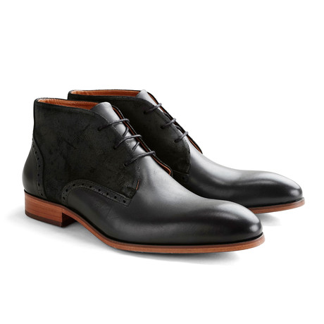 Cedar St. Shoe // Black + Dark Gray (Euro: 40)