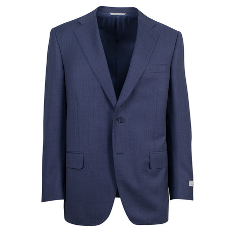 Canali // Simeon Wool 2 Button Suit // Blue (US: 46S)