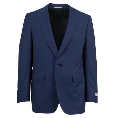 Canali // Dawson Wool Peak Lapels 2 Button Suit // Blue (US: 46S)