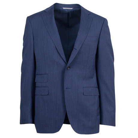 Canali // Rayan Yale Wool 3 Roll 2 Button Suit // Blue (US: 46S)