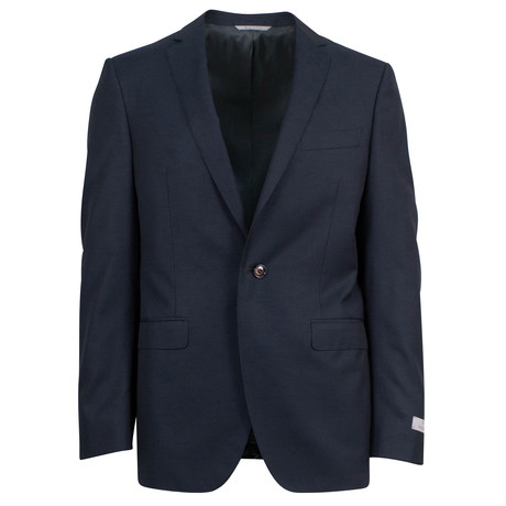 Canali // Uriel Twill Wool 2 Button Suit // Black (US: 46S)