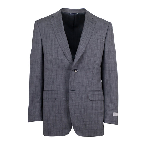 Canali // Cornelius Glen Plaid Wool 2 Button Suit // Gray (US: 46S)