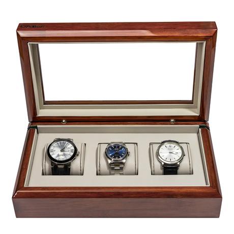 OYOBox Smart Watch Box // Mahogany