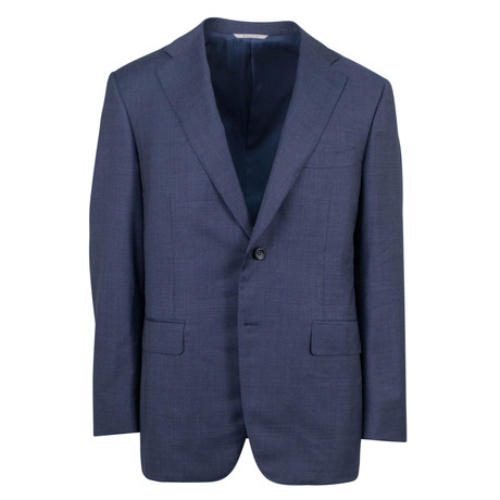 Canali // Wool Slim Fit Suit // Navy (US: 46S)